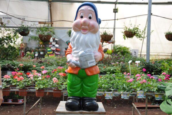 גמד לגינה בצבע כתום